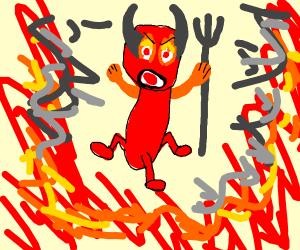 Angry 3 legged demon