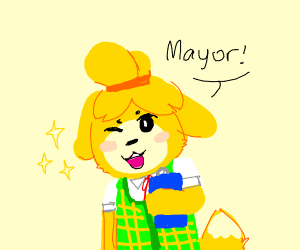 Isabelle from animal crossing! (Good art btw!