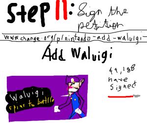 Step 10: Find out Waluigi isnt in smash