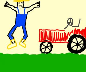 Farmer Jumping