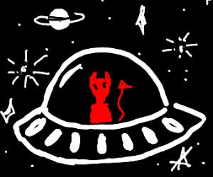 Satan in a spaceship