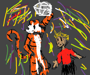 Calvin and Hobbes visit a disco