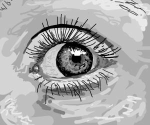 Very realistic eye painting