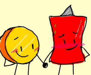 Blushing Couple