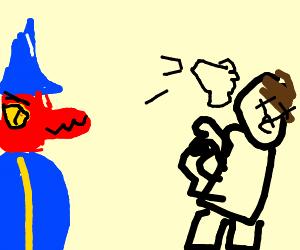 wizard spawns hand to slap her ex