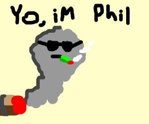 a cool guy named phil is cool because he smok