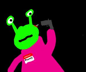 Alien princess death shot