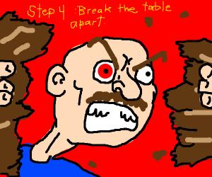 Step 3 Hit head on table