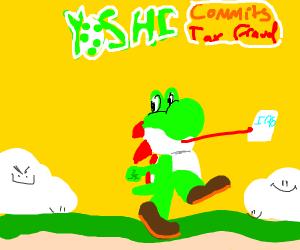 Yoshi commits tax fraud