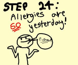 Step 21: Find out you have an allergy to kale