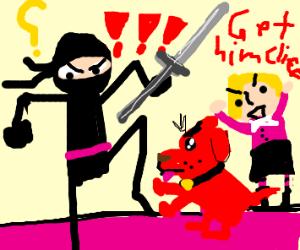 ninja vs small clifford