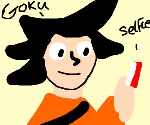 goku takes a selfie