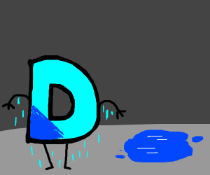 a wet D