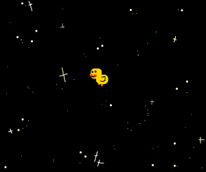 Duckling in space