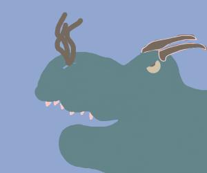 Blue angery dragon