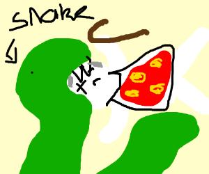 Snake eats nan