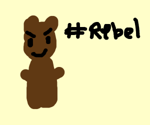 a bear with no clothing even though he should