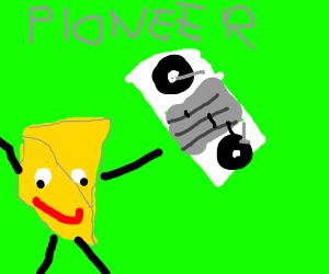 Cheese man sponsers a pioneer dj set