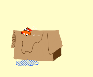 nemo gets out of a box