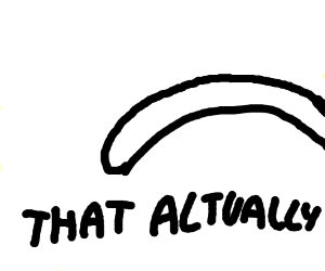 """Minimalist drawing of (snake?)""""That actually"""""""