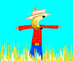 banana scarecrow