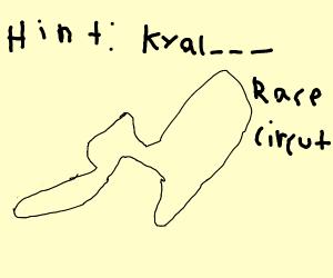 Kyalami Circuit Racetrack (Top down view)