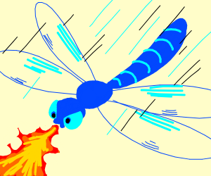 Fire breathing dragonfly