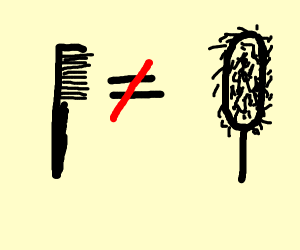 comb is not a brush