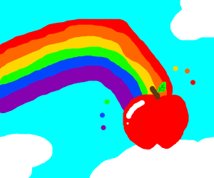 Fruit in a rainbow