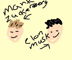 mark zuckerburg and elon musk