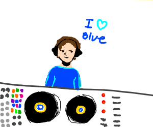 DJ who loves the color blue