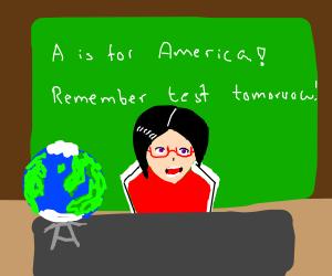 poorly drawn geography teacher