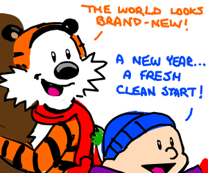 calivn and hobbes in the new year