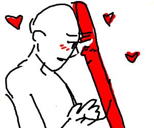 human x red stick