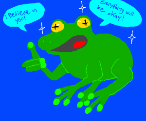 A very positive frog