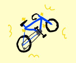 shiny blue bike!