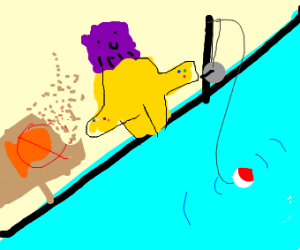 Thanos is fishing in a no-fishing zone