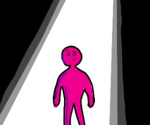 pink person has the spotlight