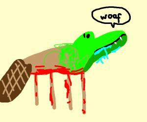 feral beaver-dog-crocadillian thing