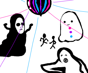 Funky ghost party