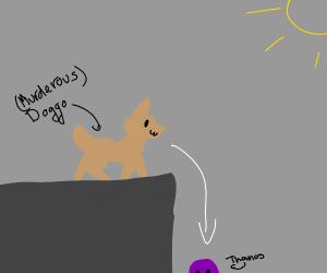 Doggo pushes Thanos