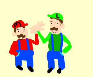 Mario bros high five
