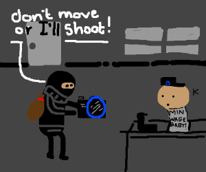 photo camera armed robbery