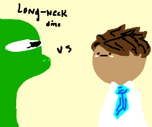 Dinosaur vs a guy named kevin