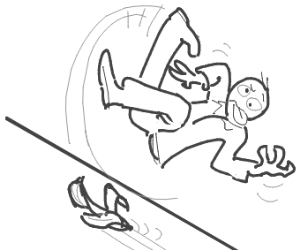 Someone flip over a banana