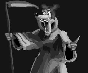 mickey mouse as the grim reaper