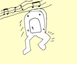 Toilet Seat Man Dancing