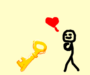 Stickman has fallen in love with a key