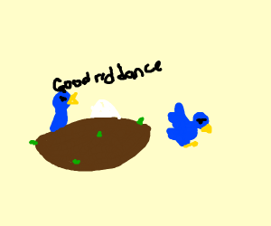 bird being ridden