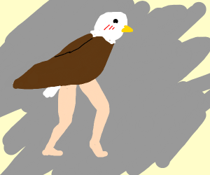 eagle with hot legs